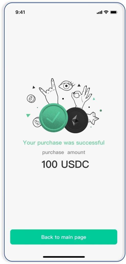 Buy USDC